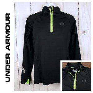 Mens Under Armour Fitted Storm Coldgear 1/4 Zip